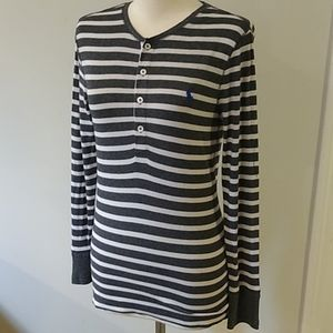 Polo Ralph Lauren striped henley long sleeved tee